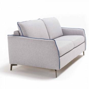 3-pers. Design sofa L.185cm stof / øko-læder fremstillet i Italien Erica