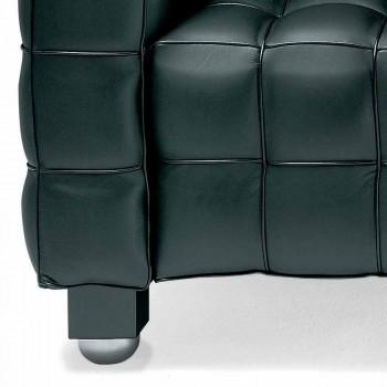 3 -personers sofa i kvalitet Made in Italy Quiltet effektlæder - Vesuvius