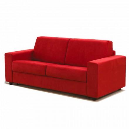 3-pers. Stor sofa Mora, fremstillet i Italien, betræk af stof / læder