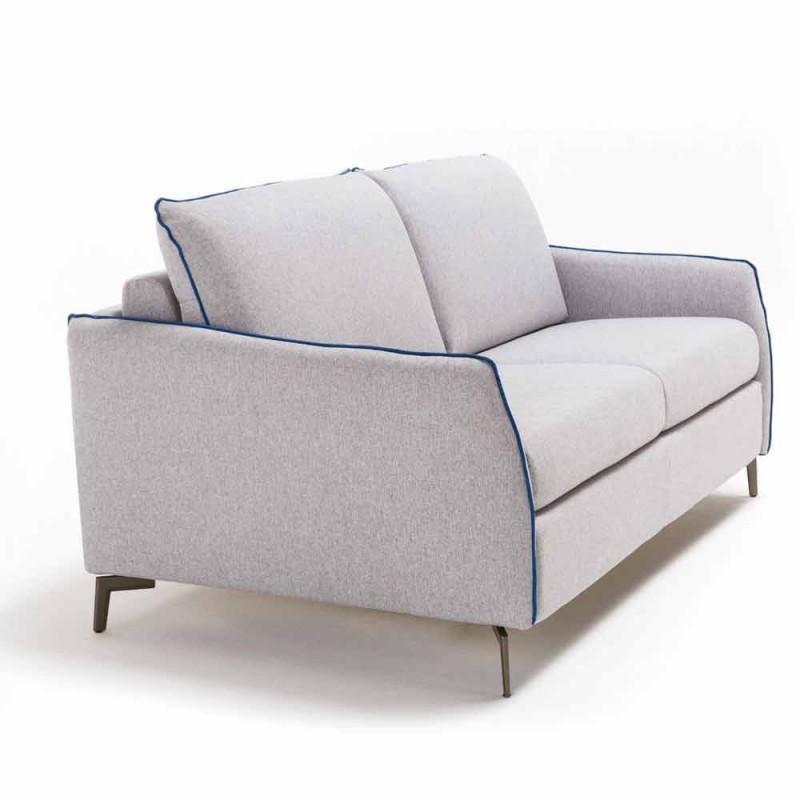 3-pers. Maxisofa L205 cm moderne design i øko-læder / Erica stof