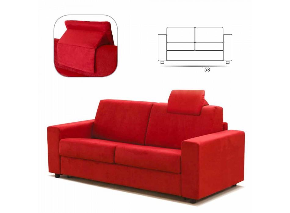 2-personers moderne design imiteret lædersofa / stof fremstillet i Italien Mora