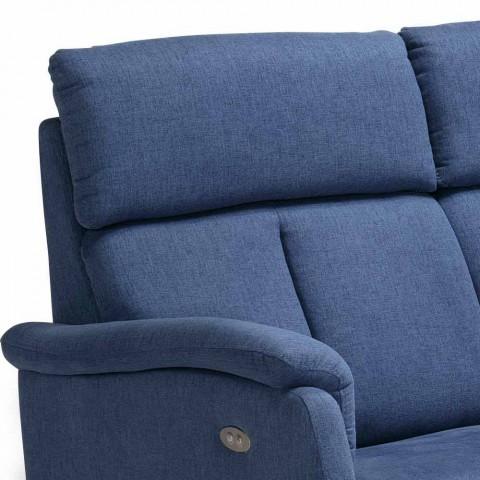 Moderne design 2 pers. Sofa i læder, øko-læder eller Gelso stof