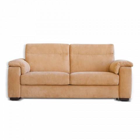 Design 2-pers. Sofa i stof eller øko-læder Lilia, fremstillet i Italien
