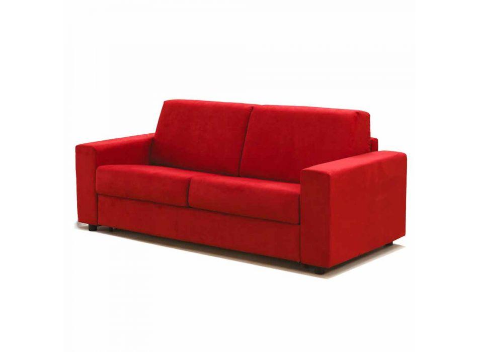 Moderne 2-personers maxi sofa i øko-læder / stof fremstillet i Italien Mora