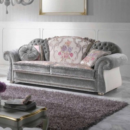 Sofa 2-personers barok coated stof Romantic