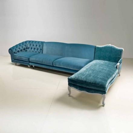 Hjørnesofa luksus klassisk design, fremstillet i Italien, Narciso