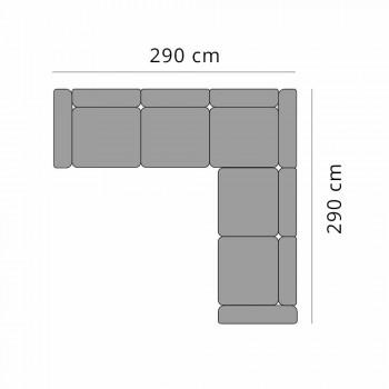 5-personers udendørs hjørnesofa i aluminiumsdesign i 3 finish - Filomena