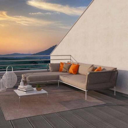Moderne design udendørs hjørnesofa i due grå eller hvid stof - Ontario3