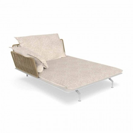 Havechaiselong Sofa i aluminium og stof - krydstogtsalu af Talenti