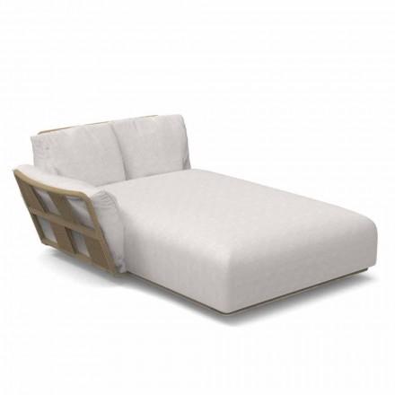 Havechaiselong sofa i stof og aluminium - Scacco af Talenti