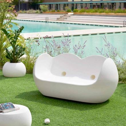 Udendørs rocking sofa Slide Blossy moderne design lavet i Italien
