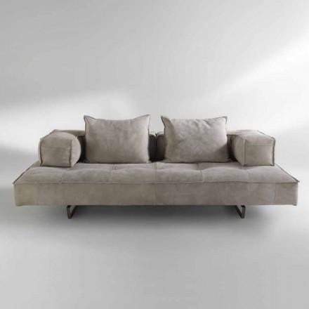 Sofa moderne design Cardo, læderindtræk