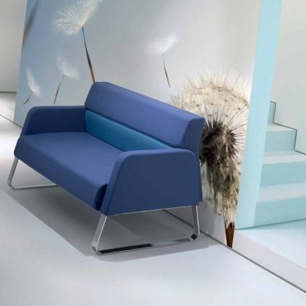 Designer imiteret læder vasket sofa lavet i Italien Ennio