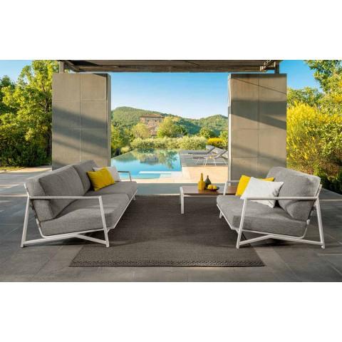 2-personers udendørssofa i aluminium og stof - Cottage Luxury af Talenti