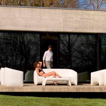 Moderne udendørs sofa lavet med polyethylenharpiks, Blow by Vondom