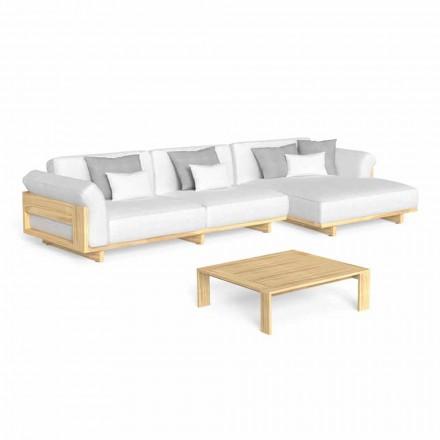 Udendørslounge med luksuriøs træ-sofa og sofabord - Argo af Talenti