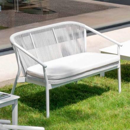 Udendørs stabelbar to-personers sofa polstret stof - Smart af Varaschin