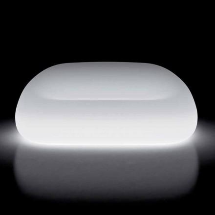 Lys udendørssofa med LED-lys i polyethylen Fremstillet i Italien - Ervin