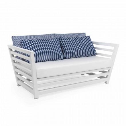 2-personers have sofa i hvid eller sort design aluminium - Cynthia