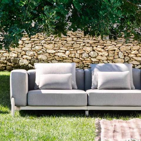 3-personers have sofa med forlænger, design i aluminium og stof - Filomena