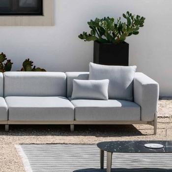 3-personers have sofa med chaiselong i aluminium og stof - Filomena