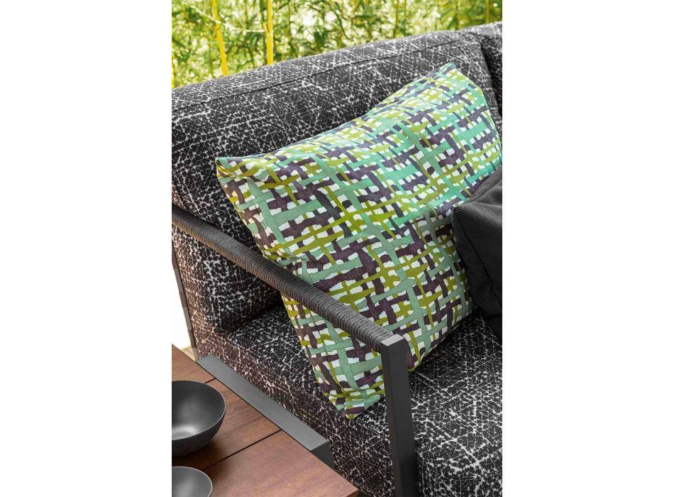 3-personers have sofa i aluminium og stof - Cottage Luxury af Talenti