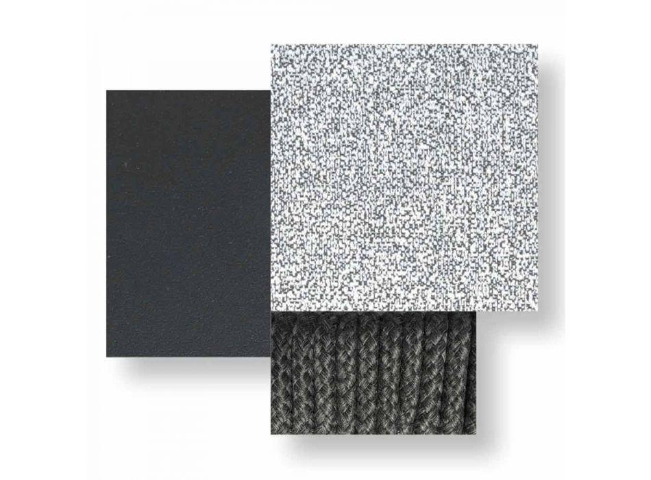 3-pers. Havesofa i polstret stof og aluminium - Krydstogt Alu Talenti
