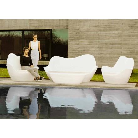 Moderne udendørs sofa Sabinas by Vondom, lavet med polyethylen