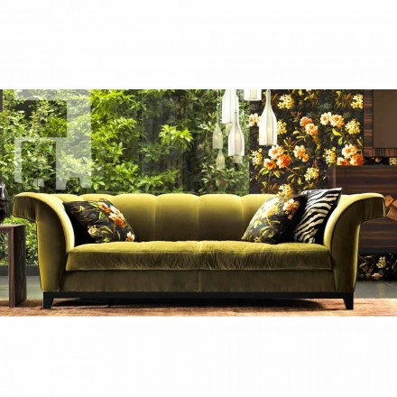 Design 3-seter betrukket sofa af Grilli Shell håndlavet i Italien