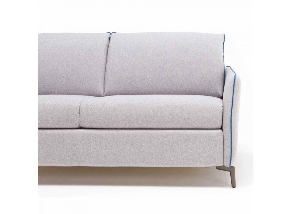 Moderne design to-pers. Sofa L.145 cm øko-læder / Erica stof