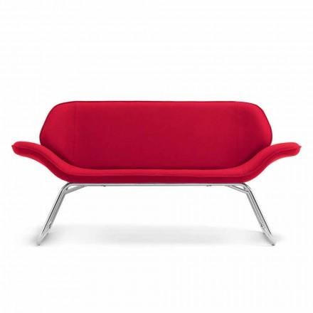 Lavet i Italien Cesare læder imiteret læder sofa