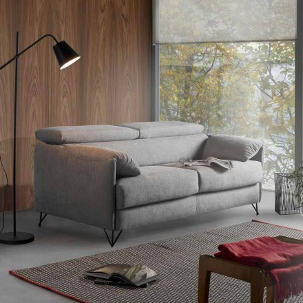 Sovesofa i aftageligt stof design lavet i Italien Vittorio