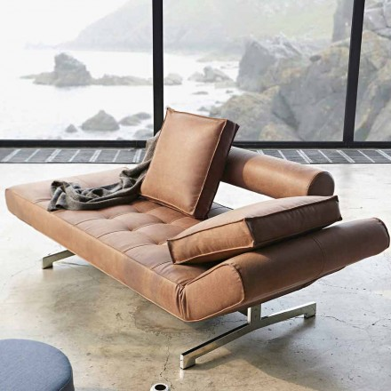 Ghia by Innovation moderne polstret sovesofa med kromben