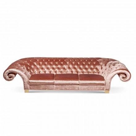 Lineær sofa i stof arbejdede quiltet klassiske Baloo