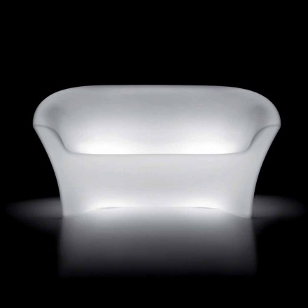 Udendørs lys sofa i polyethylen med LED-lys Made in Italy - Conda