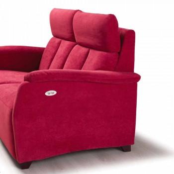 2-personers motoriseret sofa med 1 elektrisk sæde Gelso, moderne design