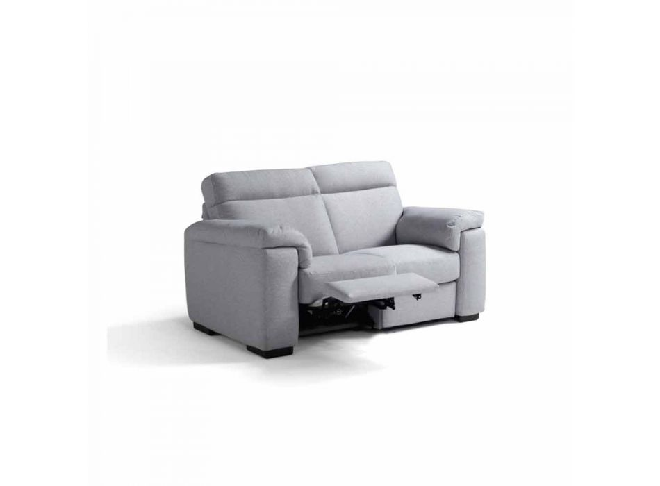 2-pers. Motoriseret sofa med 1 Lilia elektrisk sæde, fremstillet i Italien