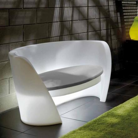Slide Rap design indendørs polyethylen sofa lavet i Italien