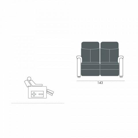 Elektrisk afslapningssofa 2 stolper, 2 elektriske stole Gelso, moderne design