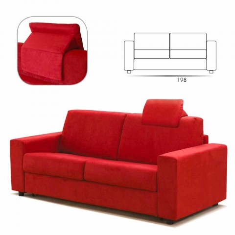 Moderne design tre-pers. Sofa i øko-læder / stof fremstillet i Italien Mora