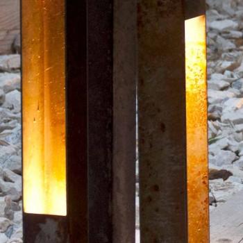 Artisan Outdoor Spotlight i Iron Corten Finish Made in Italy - Sparta