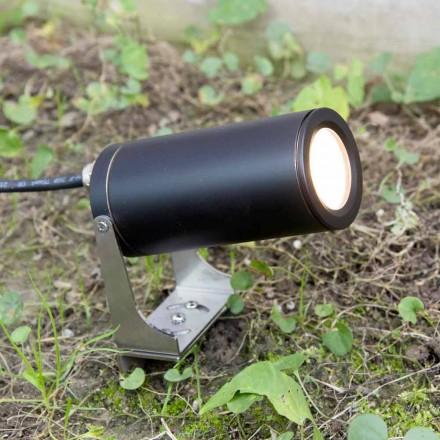 Have Spotlight i sort anodiseret aluminium med LED Made in Italy - Forla