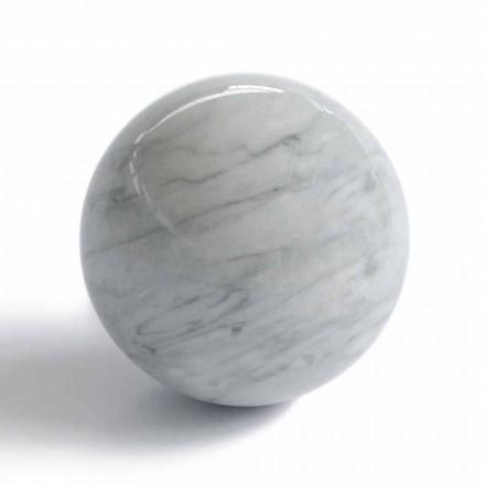 Moderne kuglepapirvægt i Bardiglio grå marmor fremstillet i Italien - Kugle