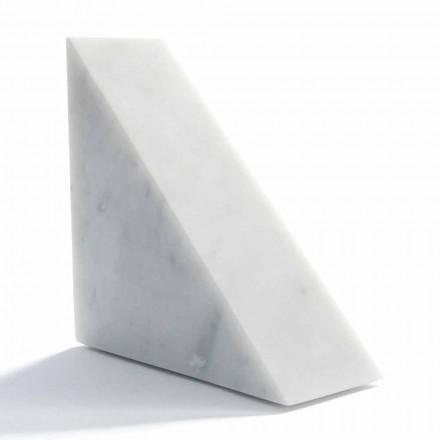 Moderne hvid Carrara marmor Bookend fremstillet i Italien - Tria