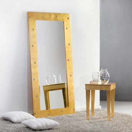 Stort spejl gulv / væg med Swarovski krystaller Vivien