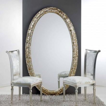 Stort ovalt spejl fra gulv / væg Life, 114x190 cm