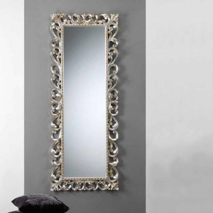 Stor lodret væg spejl med dekorerede stel Paris