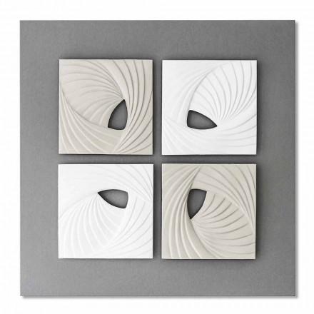 Hvid og grå dekorativ vægmontering i moderne design - Bossy