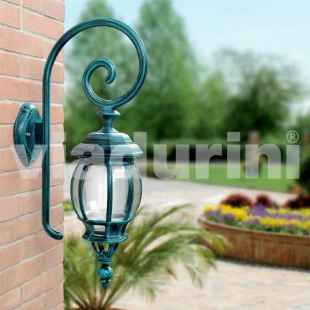 Udvendig vægstøbt lampe lavet med støbt aluminium, Anika