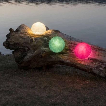 Udendørs væglampe In-es.artdesign Button Ud i farvet nebulit